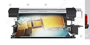 Ein Digitaldrucker ist zu sehen - Fahrzeugbeschriftung